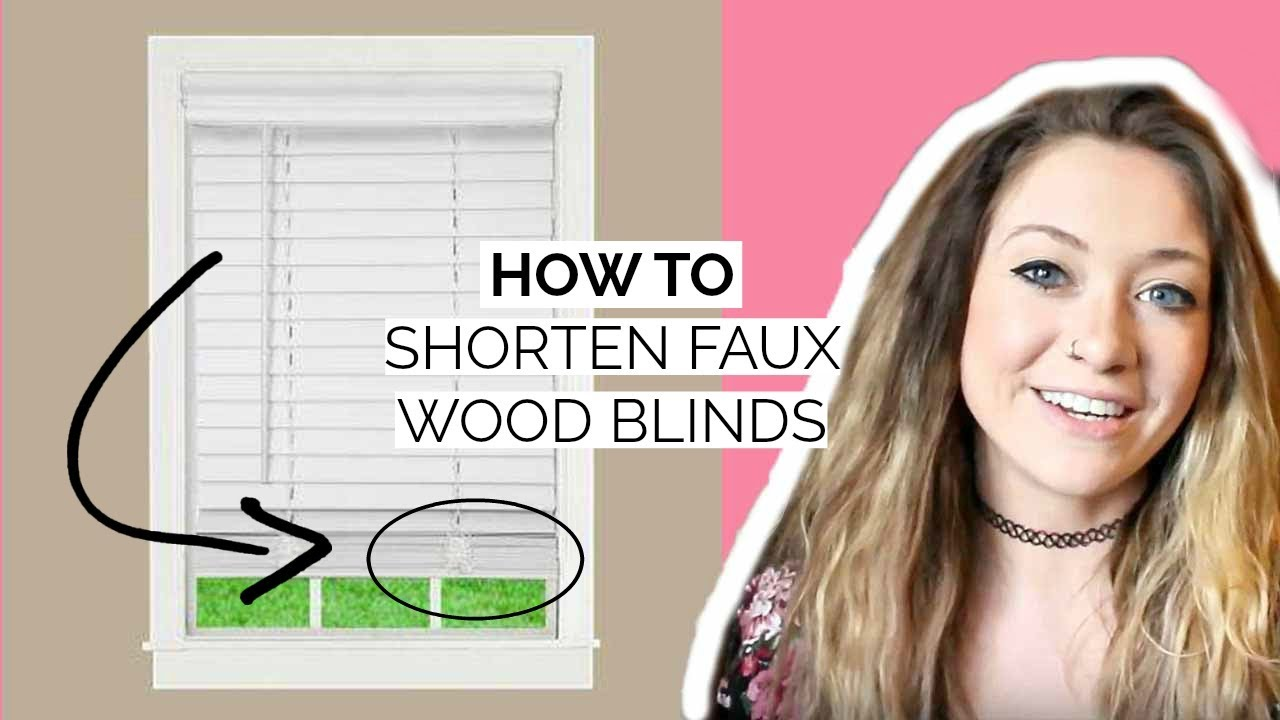 how to shorten blinds HOW TO SHORTEN BLINDS/FAUX WOOD BLINDS   YouTube how to shorten blinds