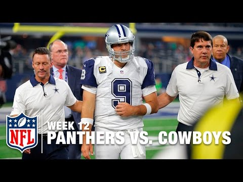 Romo Sacked & Injures Clavicle   Panthers vs. Cowboys   NFL