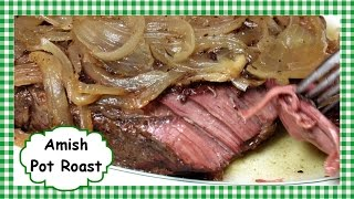 How to Make Amish Pot Roast ~ Slow Cooker Roast Beef Recipe