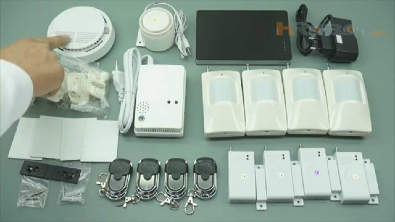 Комплект беспроводной gsm сигнализации Страж Лайт для охраны дома, квартиры, для дачи и для гаража