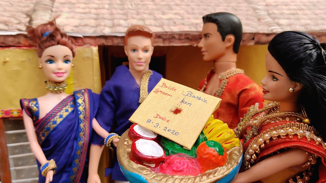 Barbie and Ken Marriage | wedding invitation | inviting people for wedding | Barbie #minimarriage