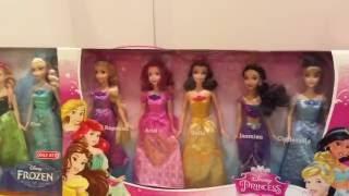 美國玩具介紹 迪士尼公主芭比娃娃 冰雪奇緣 樂佩 艾麗兒 貝兒 茉莉 灰姑娘