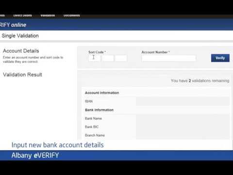 Background Checks Albany eVERIFY - Bank account validation software
