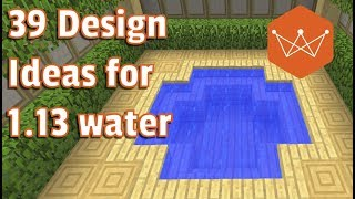 Minecraft Tutorial 39 decoration ideas with waterlogged blocks for 1.13