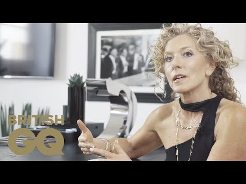 Kelly Hoppen gets to work in to her own home study | GQ Bachelor Pad | British GQ