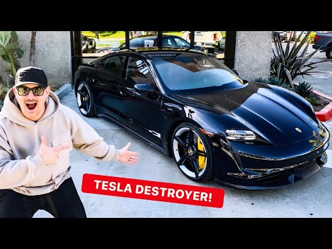 HOW TO EMBARRASS TESLA OWNERS: BUY PORSCHE'S ELECTRIC SUPERCAR! *2020 TAYCAN TURBO S*
