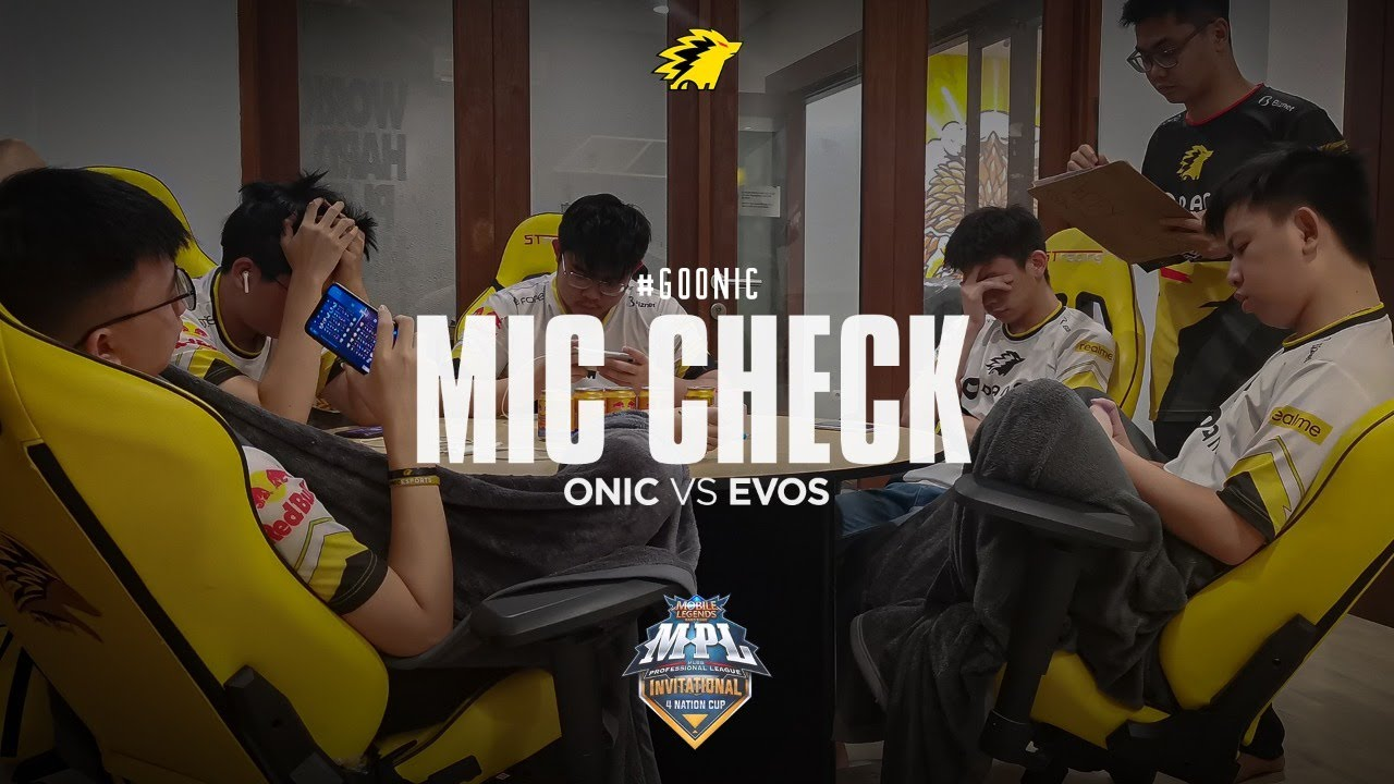 ONIC VS EVOS - MIC CHECK MPL INVITATION PLAYOFF