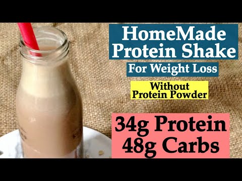 HomeMade Protein Shake Recipe Without Protein Powder   How To Make Protein Shake For Weight Loss