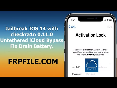 Jailbreak and Untethered iCloud Bypass IOS 14  Fix Drain Battery thumbnail