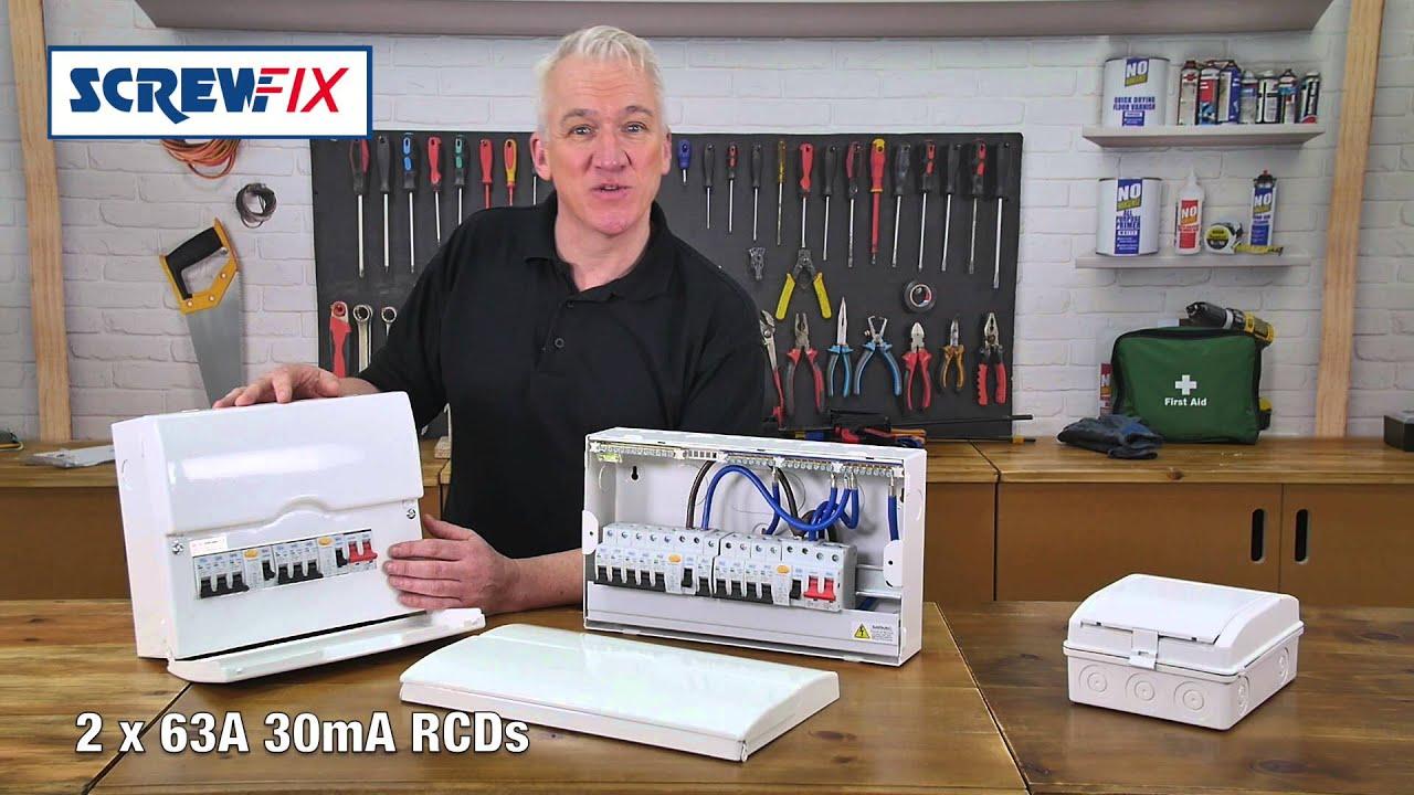 Shed Consumer Unit Wiring Diagram Lovely 2 Way Light Switch Uk Screwfix Bg Units Youtube