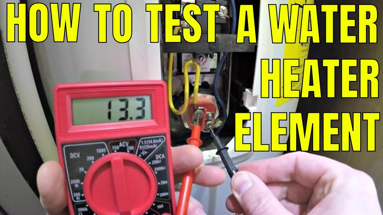 How To Test A Water Heater Element Youtube Wiring Hot