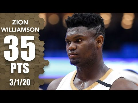 Zion Williamson scores career-high 35 points in Lakers vs. Pelicans | 2019-20 NBA Highlights