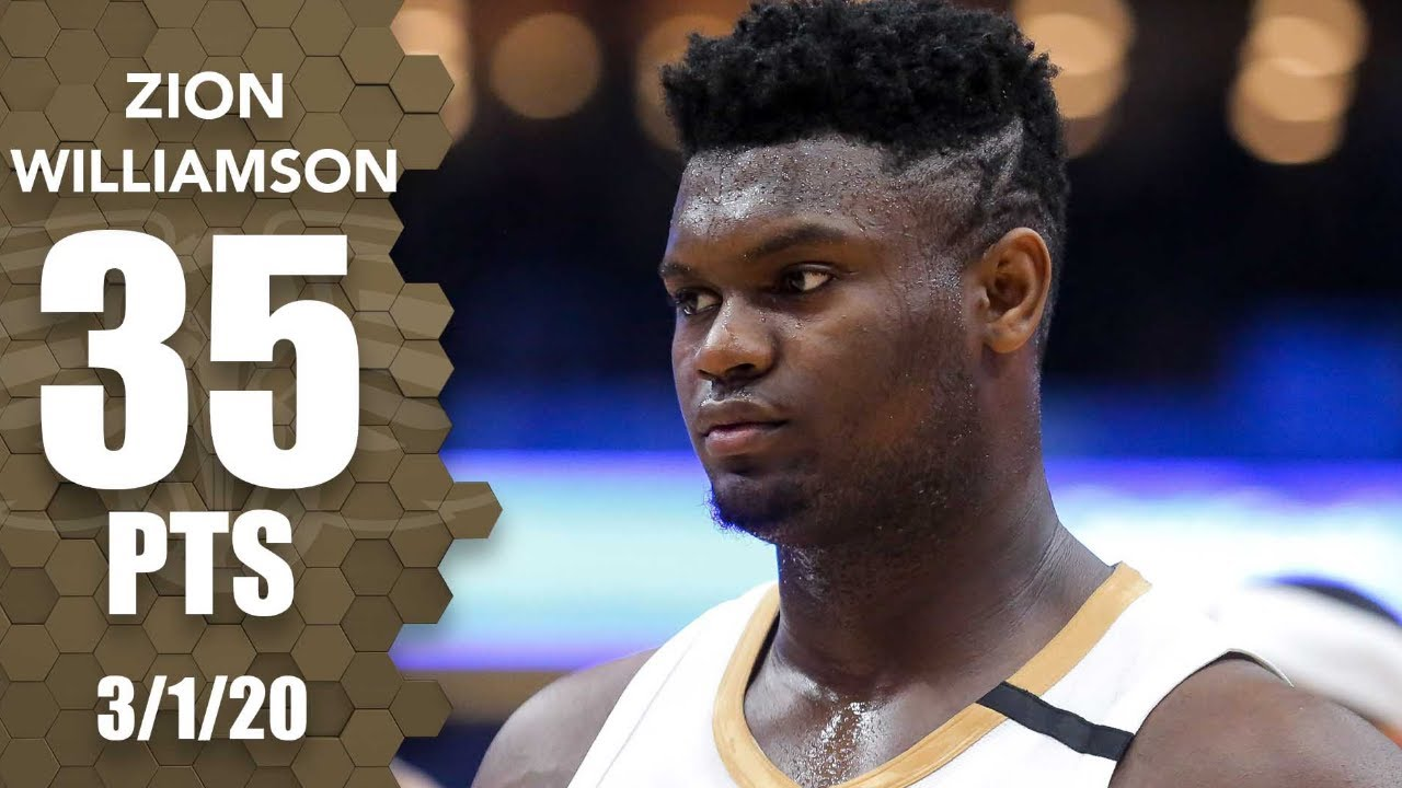 Zion Williamson scores career-high 35 points in Lakers vs. Pelicans   2019-20 NBA Highlights