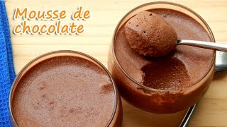MOUSSE DE CHOCOLATE COM 3 INGREDIENTES - RECEITAS QUE AMO