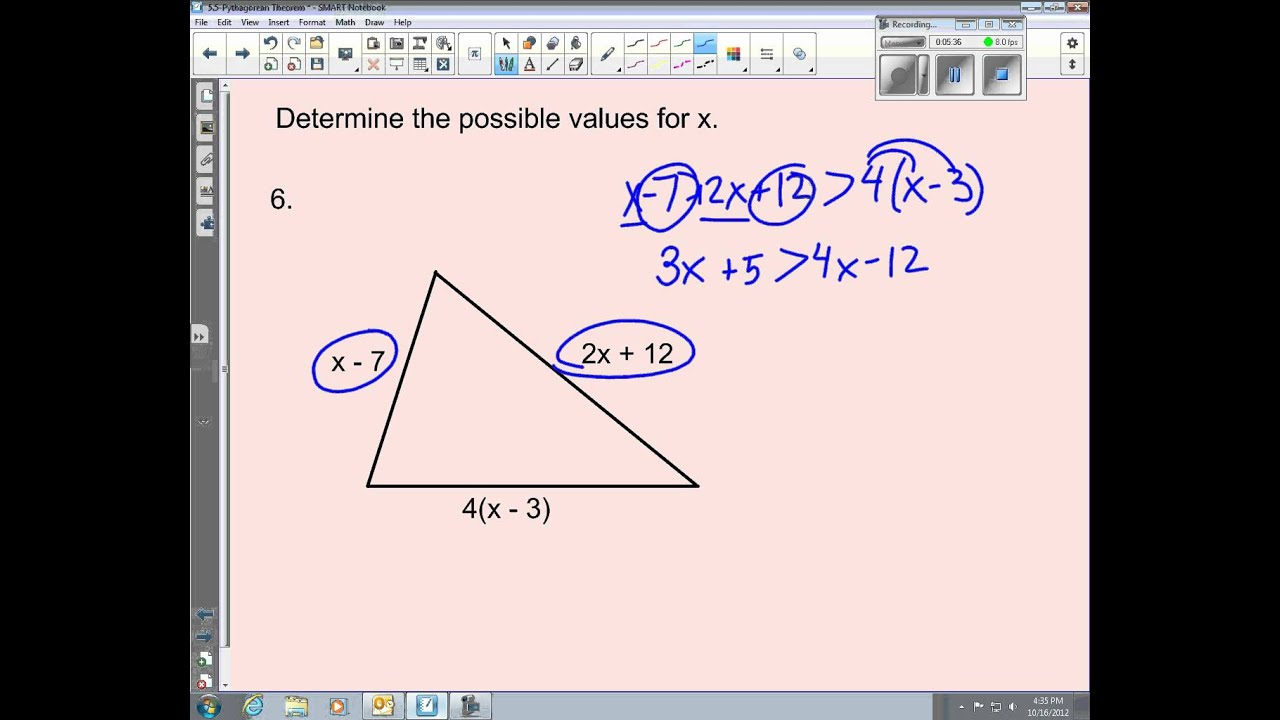 worksheet Triangle Inequalities Worksheet 5 triangle inequality theorem youtube theorem