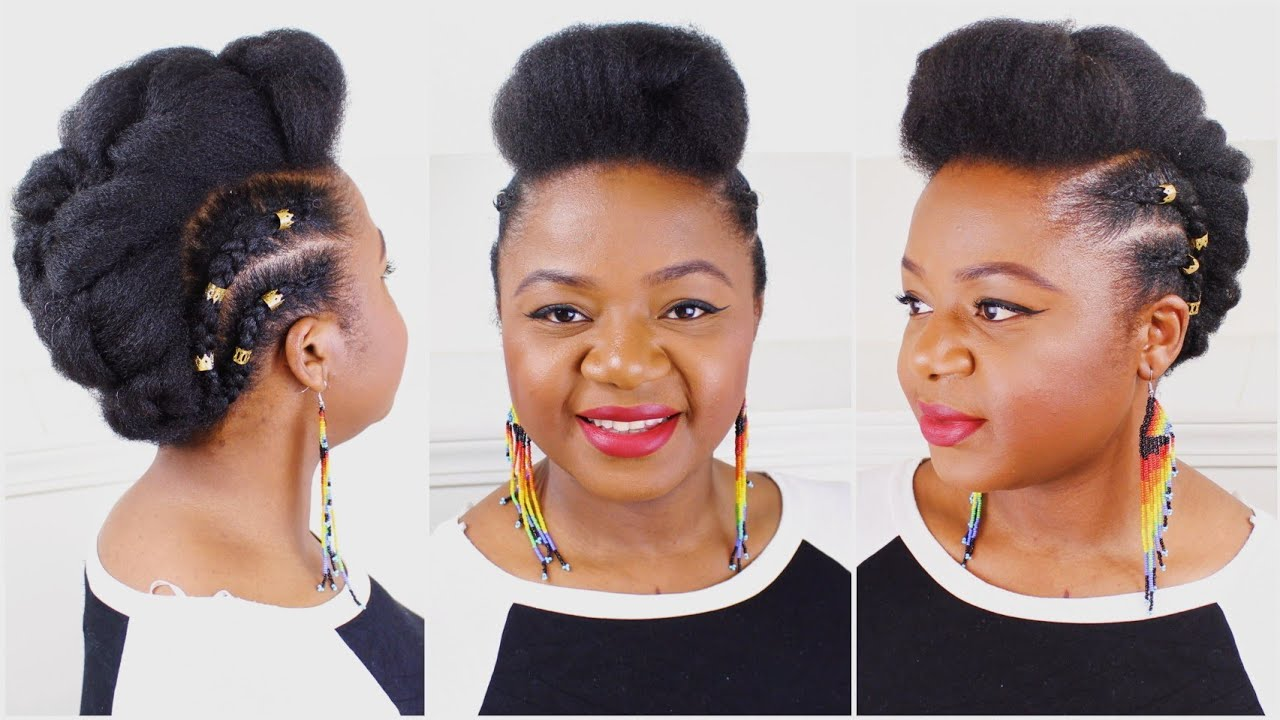 Easy And Simple 4c Natural Hair Style With No Extensions
