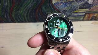 """Phoibos - Wave Master """"Green Dragon"""" Automatic Dive Watch"""