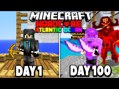 I Survived 100 Days of Hardcore Minecraft in the Atlantic Ocean.. Here's What Happened..
