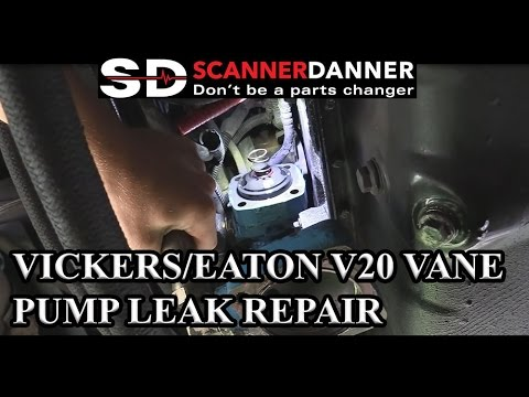 Vickers/Eaton V20 Vane Pump Leak Repair (American Coach) - YouTube