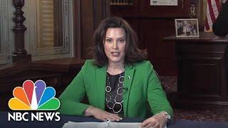 Live: Michigan Gov. Gretchen Whitmer Holds Coronavirus Briefing | NBC News