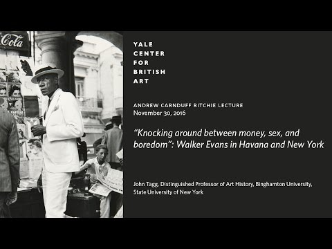 """Knocking around between money, sex, and boredom"": Walker Evans in Havana and New York"