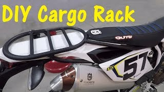 DIY Cargo Rack For A Motorcycle