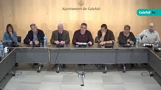 Ajuntament de Calafell: Sessió plenària extraordinària, 11 de març de 2019
