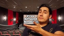How to Get Advanced Movie Screenings | Tips and Tricks (links in description)