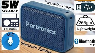 Portronics Dynamo Bluetooth Speaker Unboxing & Review
