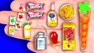36+ DIY MINIATURE FOODS AND CRAFTS FOR DOLLHOUSE BARBIE