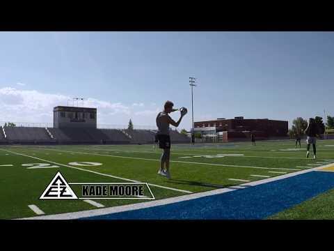 Kade Moore MILE-WR Workout w/ Kellen Moore Throwing