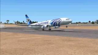 Fsx Egypt Air Boeing 737 Landing Spot Thumbnail