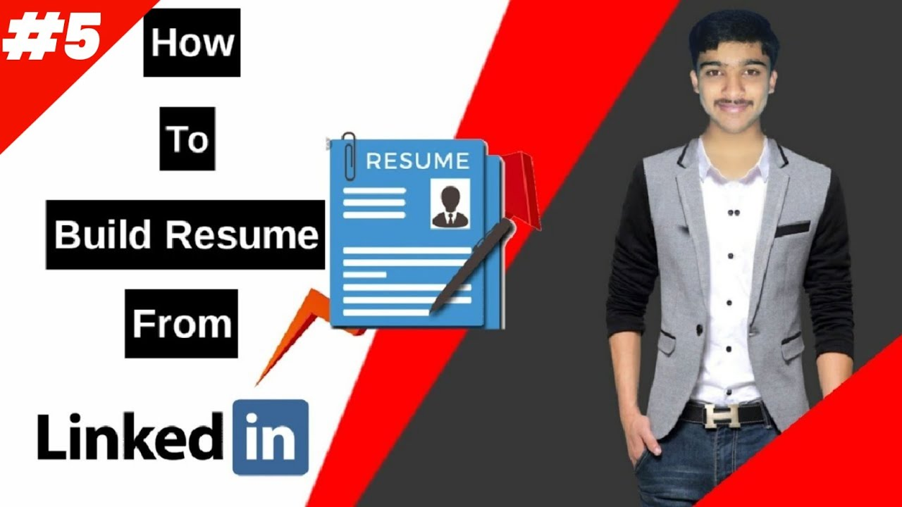 How To Build Resume Cv From Your Linkedin Profile How