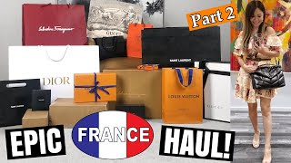 OMG ANOTHER MASSIVE FRANCE LUXURY HAUL/UNBOXING? - ft LV, Dior, YSL, Farfetch, Gucci etc
