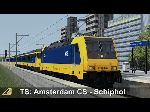 Train Simulator: Amsterdam Centraal - Schiphol Airport with NS TRAXX