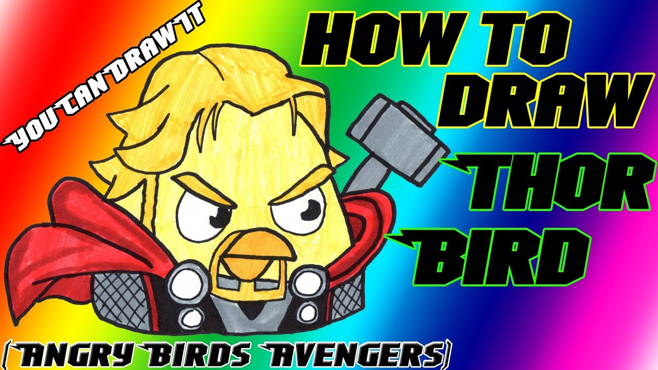 How To Draw Thor Bird From Angry Birds Avengers
