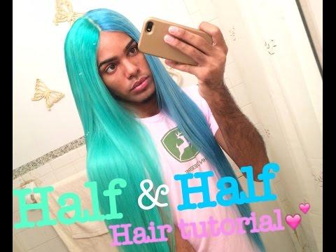 HALF SKY BLUE HALF SWEET MINT HAIR TUTORIAL   Xavier Ivan