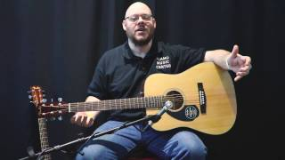 Fender CD-60S Natural, Mahogany, Lefty Demo & Review