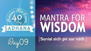 Mantra for Wisdom - Suniai Sidh Pir Sur Nath | Day 09 of 40 DAY SADHANA