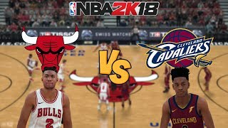NBA 2K18 - Chicago Bulls vs. Cleveland Cavaliers - Full Gameplay (Updated Rosters)