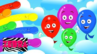 The Balloon Song | Learn Colors | Zebra Nursery Rhymes and Kids Songs | Baby Rhyme
