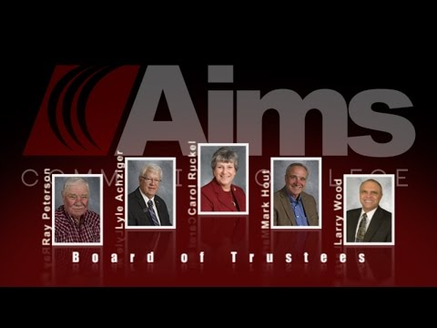 Aims Community College Board of Trustees meeting February 3 2016