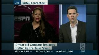 Liz Cambage selected #2 in the WNBA Draft