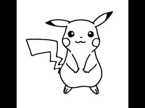 Desenho Do Pikachu Para Pintar - YouTube