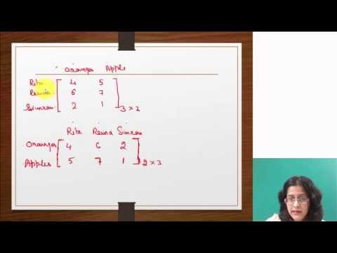 Matrices Video Lecture for CMA Foundation B.Com 12th Class Maths Online Satellite Video Classes