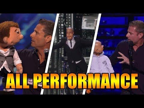 Paul Zerdin Ventriloquist America's Got Talent 2015 All Performances GTF