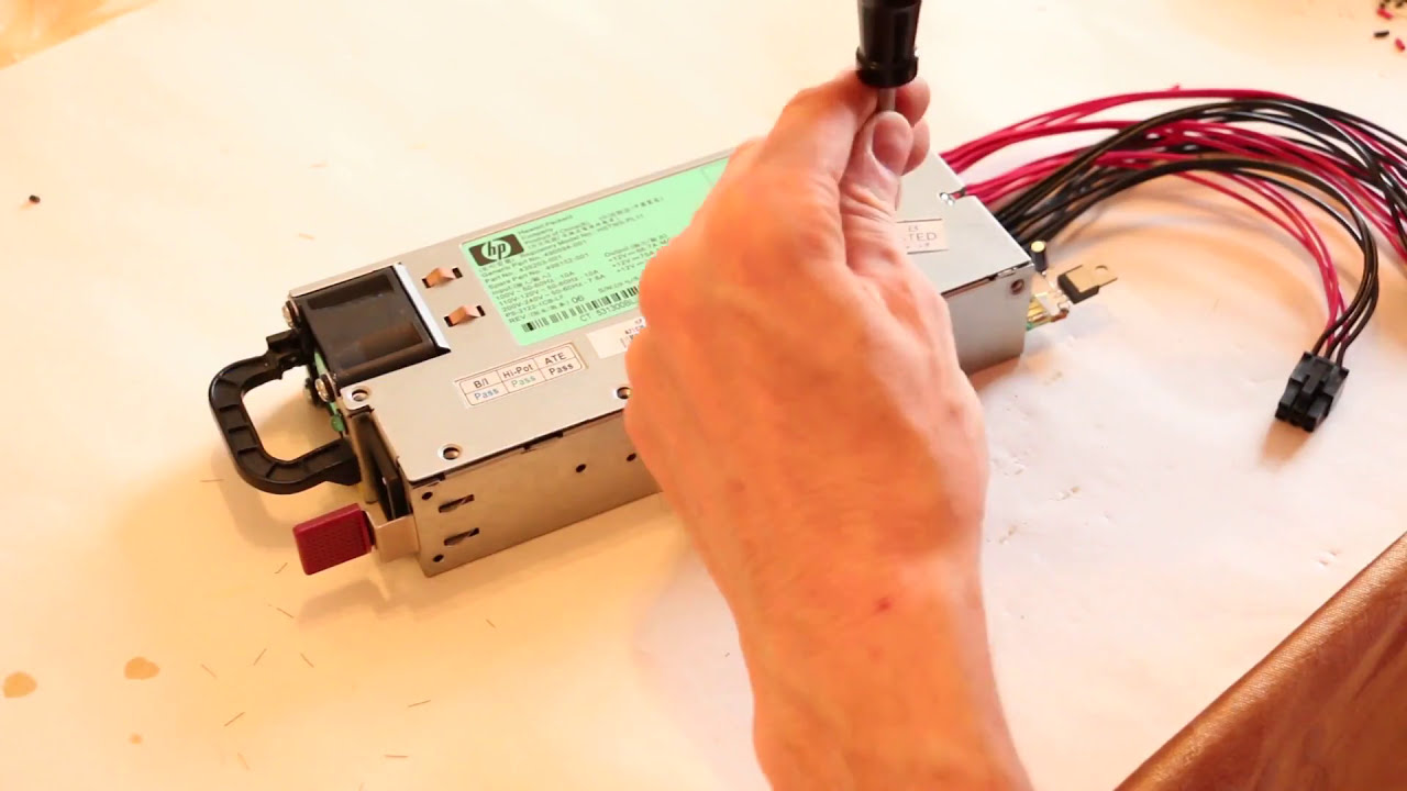 Modifying An Hp Hstns-Pl11 Server Psu For Bitcoin Mining (Incl  Auto-Start  And Voltage Adjust)  Bitcoinmining 17:35 HD