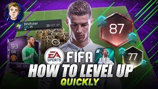 #FIFAMOBILE 18 S2    HOW TO LEVEL UP & INCREASE TEAM OVR QUICKLY!! GAIN EASY XP