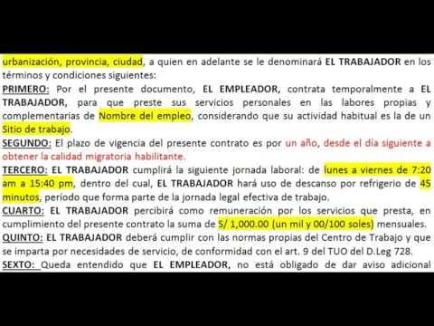 Cómo redactar un Contrato de trabajo para extranjeros