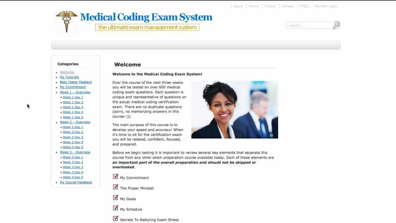 Medical Coding Exam System Youtube